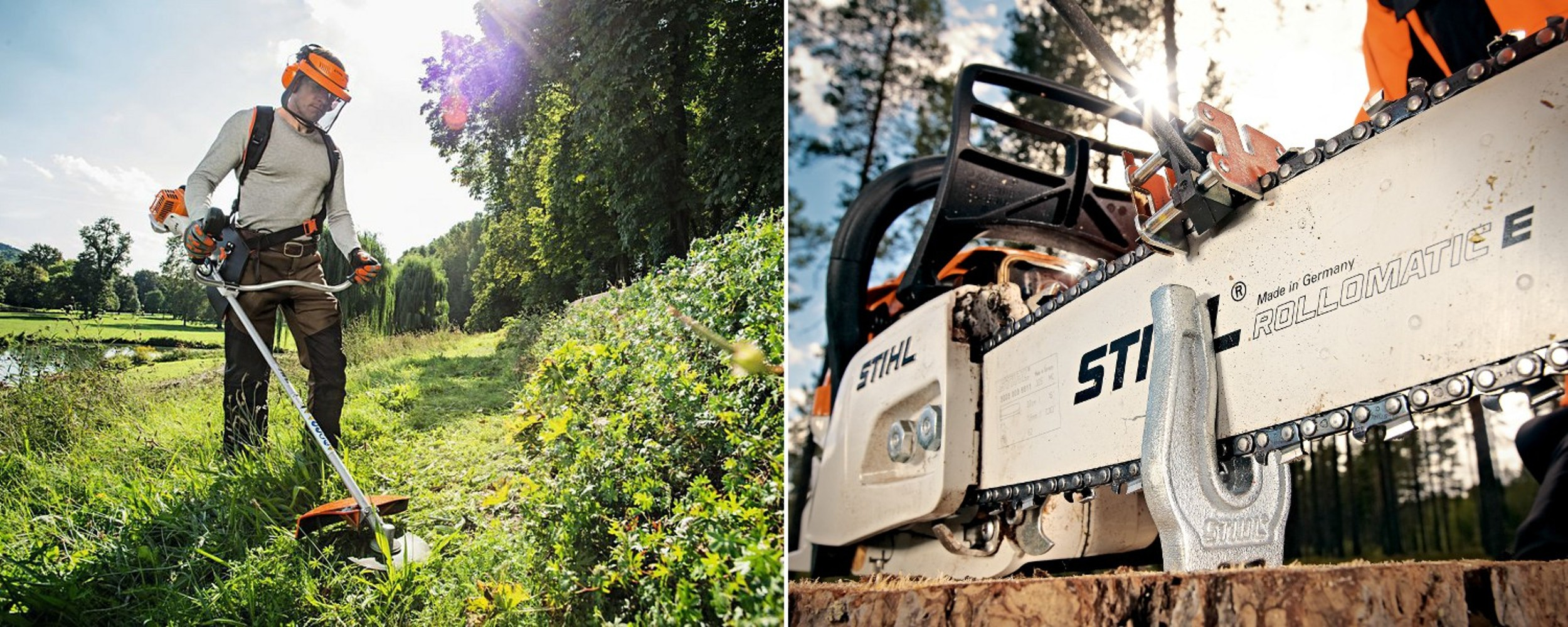 stihl brushcutter and chainsaws